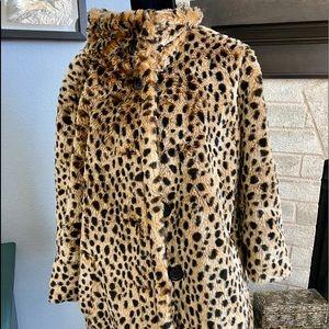 Torrid Plush Leopard Coat